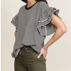 Current/Elliot Carina Striped Top Small